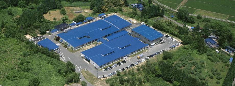 秋田事業所の空撮の写真